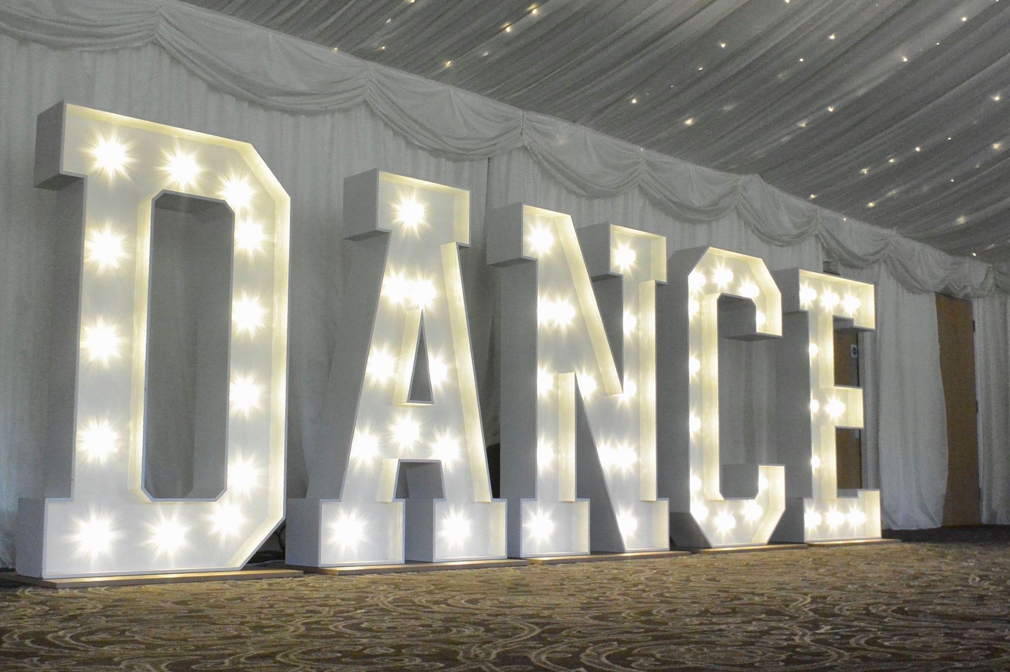 Giant Light up Letters - Diamond Hire